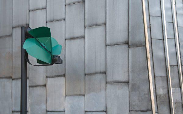 Papillio wind-powered street lamp